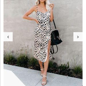 🐆Vici Leopard Slip Dress💋